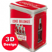 Coca Cola - Embossed Storage Tin